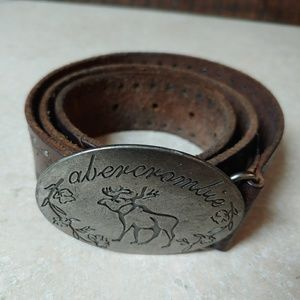 Abercrombie & Fitch Leather Belt with Buckle